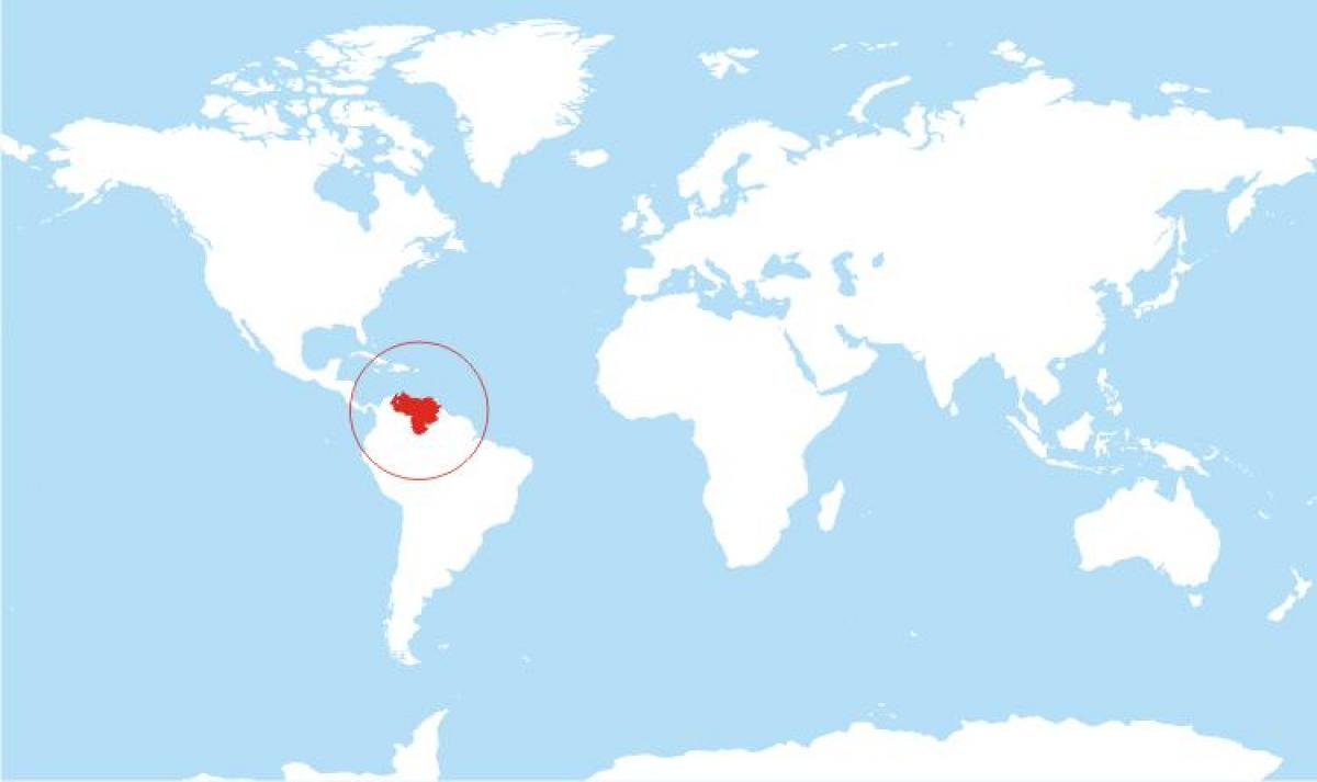 map of venezuela location on world