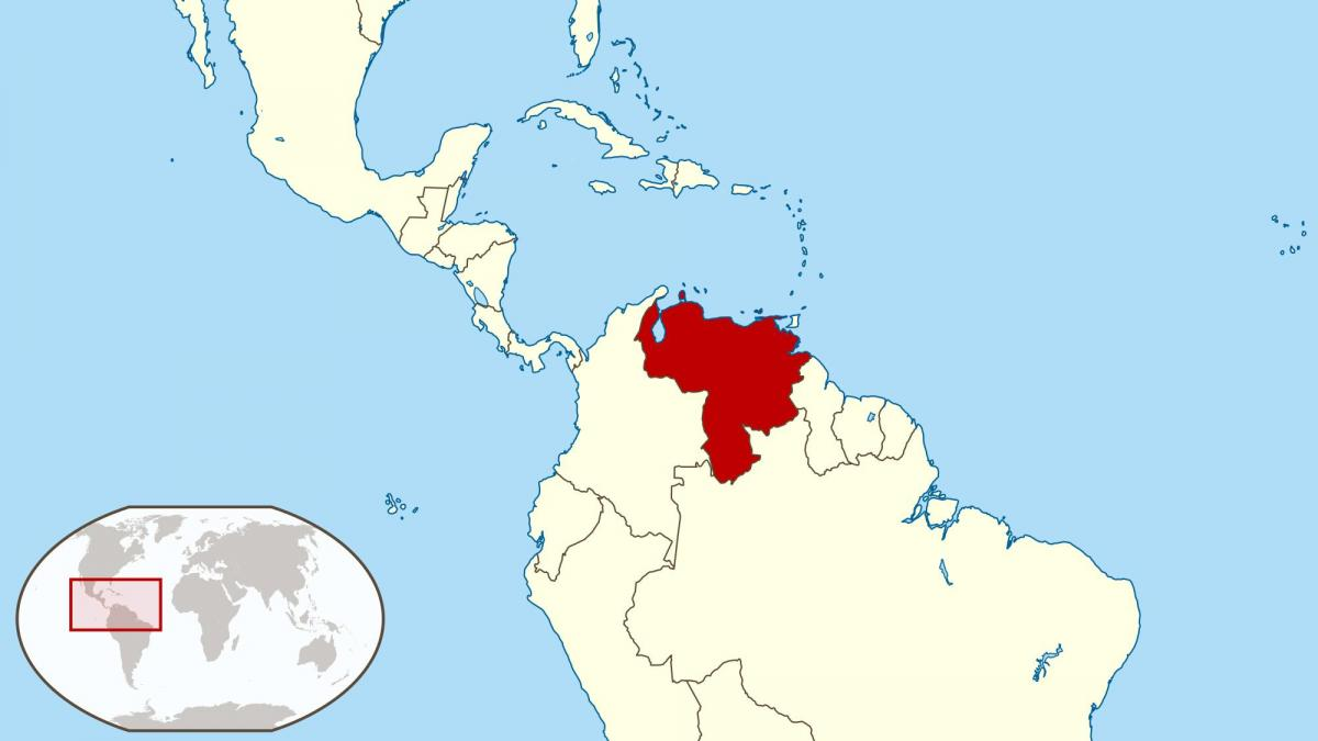 venezuela on map of south america