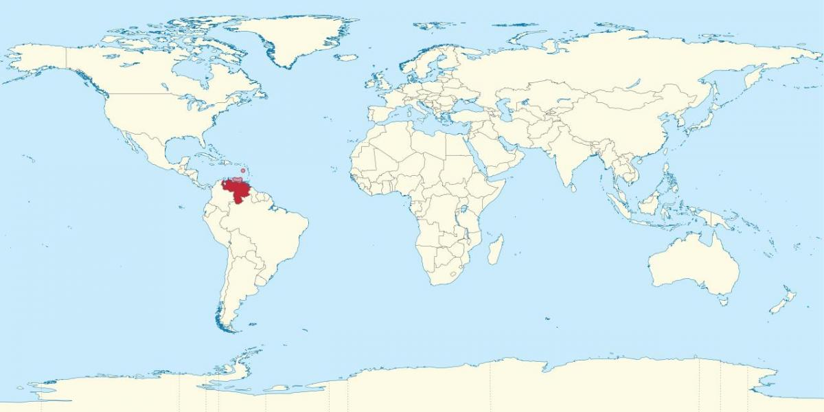 venezuela on map of the world