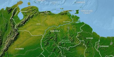 Map of venezuela geography