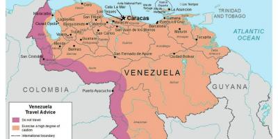 Venezuela in the map
