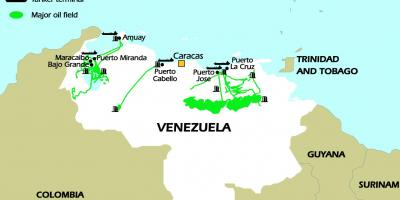 Venezuela oil reserves map